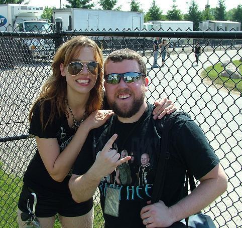 Lzzy Hale with Steve Patrick
