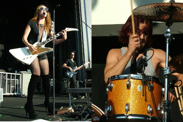 Lzzy and Arejay Hale of Halestorm