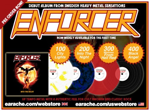 ENFORCER - 'INTO THE NIGHT' REISSUE OUT NOW ON CD
