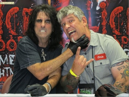 Alice Cooper and Chris A.