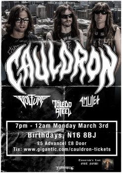 CAULDRON ANNOUNCE LONDON HEADLINING SHOW