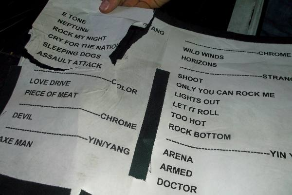Michael Schenker live 2014 set list