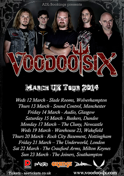 Voodoo Six announce UK Tour