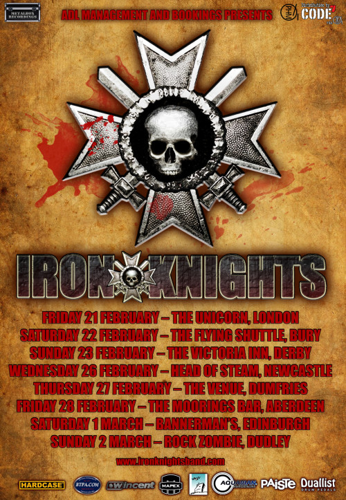 Iron Knights UK Tour Feb, March 2014