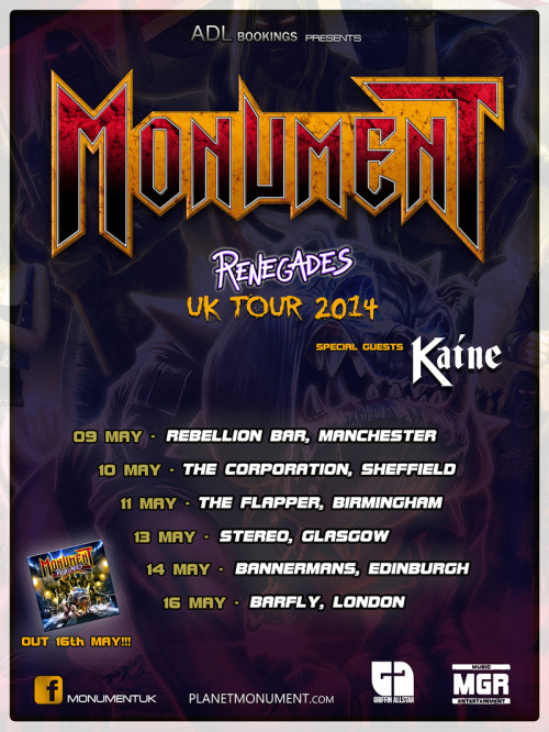Monument UK tour 2014 2