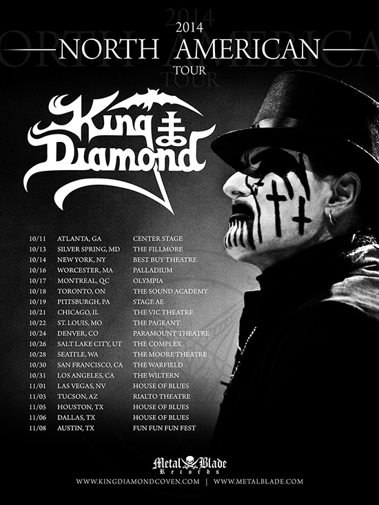 KING DIAMOND Announces North American Fall Tour