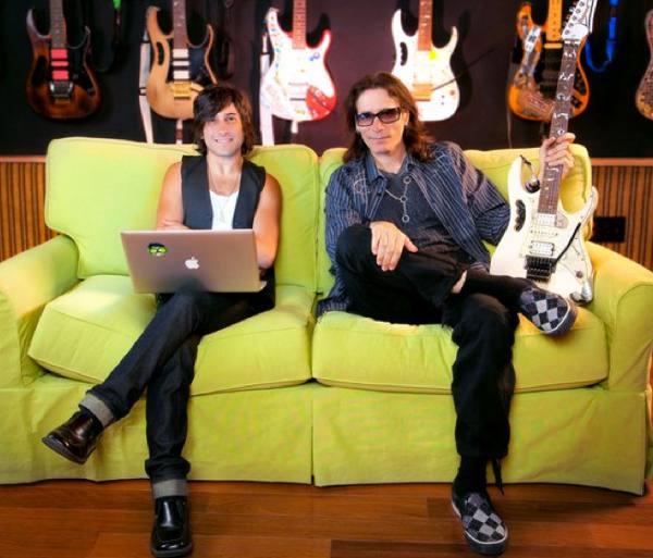 Andy Alt with Steve Vai